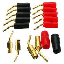 Разъем для кабеля типа «банан», красный + черный, 2 мм, 5 пар/10 шт.