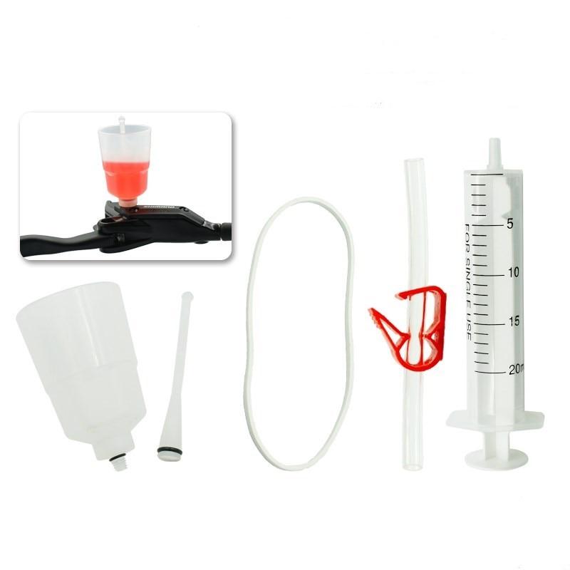 Kit de purga de freno hidráulico para sistema de frenos SHIMANO, freno de aceite Mineral, herramienta de reparación de bicicletas de embudo nuevo