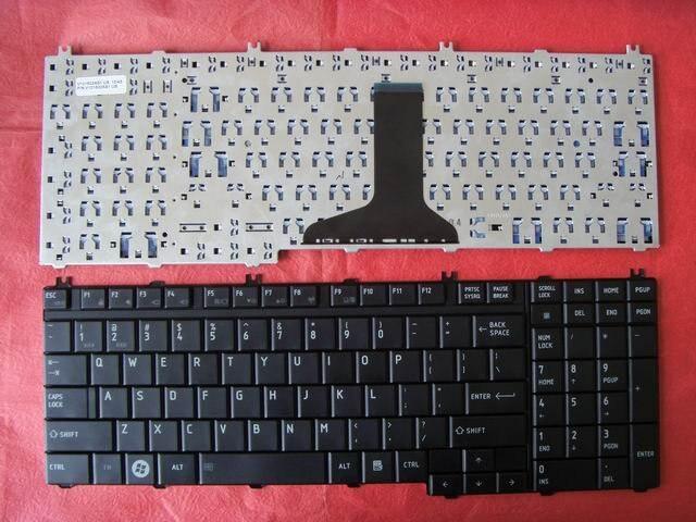 Teclado para ordenador portátil TOSHIBA Satellite P300 P305 color negro