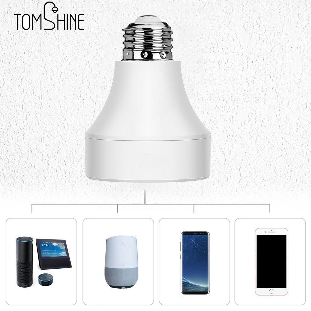 Bombilla LED de Control Wifi E27 E26, portalámparas inteligente inalámbrico de 100-240V, conversor de bombillas base para Android/IOS
