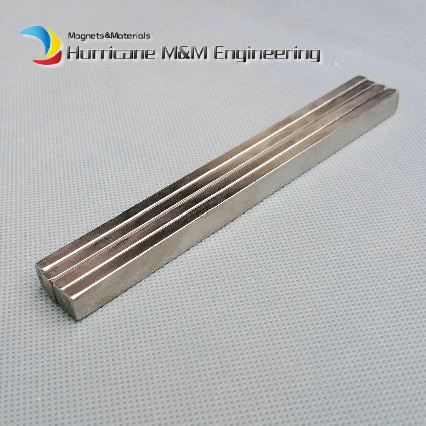 20 unids/lote N52 segmento de arco NdFeB 135x8x5mm barra larga imán de neodimio fuerte para generadores turbina de viento imán de neodimio