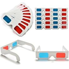 100 pairs Universale di Carta Anaglifi 3D Occhiali di Carta 3D Occhiali Da Vista Anaglifi Rosso Ciano Rosso/Blu 3D di Vetro Per film EF