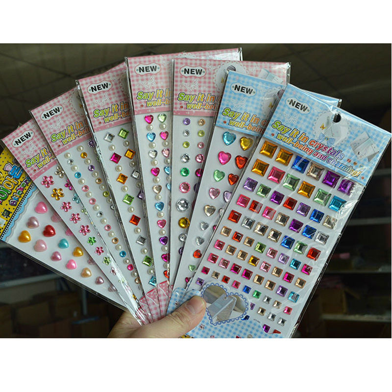 1 Sheeet Children Acrylic Diamond Sticker DIY For Kids Gift Sticker