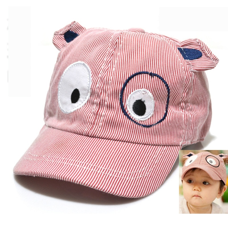 ideacherry Cartoon Dog Baby Hats Newborn Toddler Baseball Caps Kids Boys Girls Cap Summer Beret Sun Visor Hat Cap Accessories