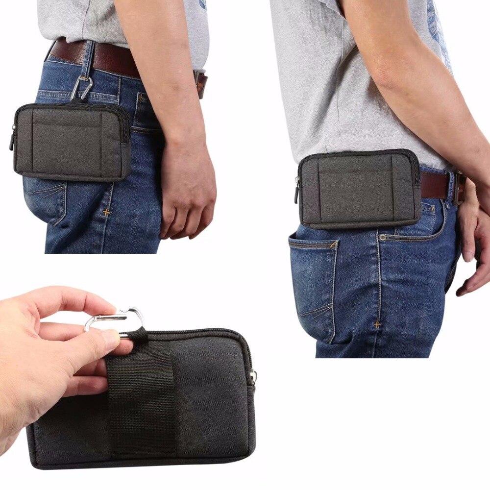 Bolso de la caja del teléfono del cinturón de la cintura del lazo del gancho para Motorola One Power, uno (P30 Play), vivo la próxima S V11 (V11 Pro) X21s Y81 Y71 V9