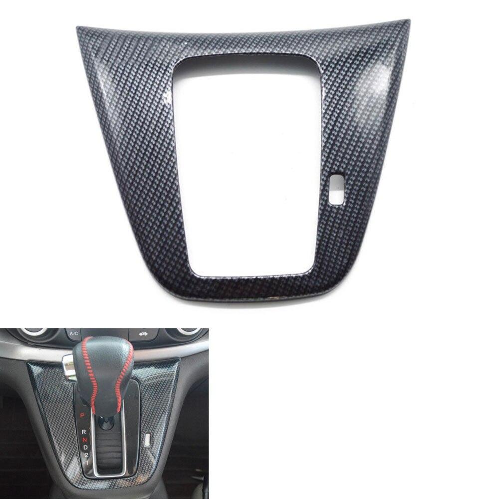 BBQ @ FUKA apto para CRV C-RV 2015 2016 consola automática cambio de marchas panel de palanca de cambios cubierta Trim etiqueta para bisel estilo de fibra de carbono