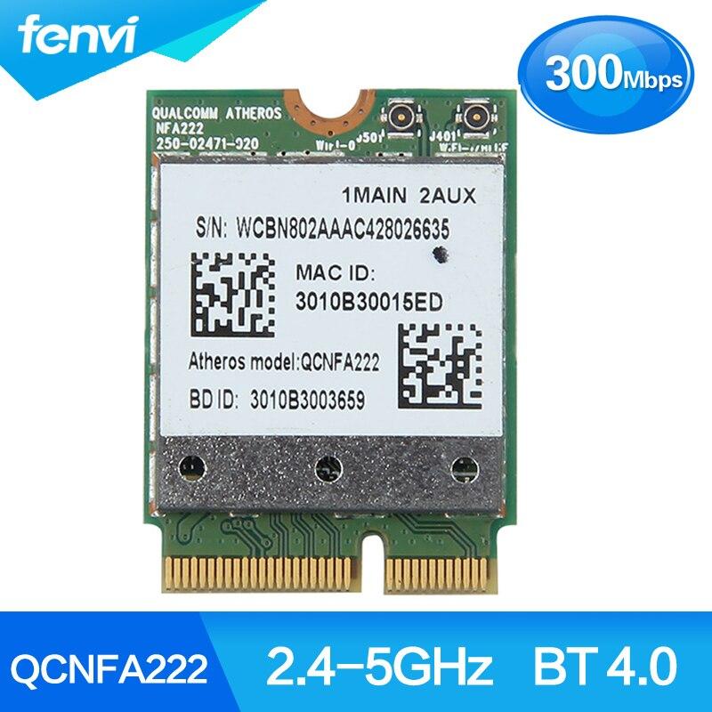 Inalámbrico Atheros QCNFA222 AR5BWB222 doble banda 300Mbps 2,4 GHz/5GHz 802.11a/b/g/n Wifi +...