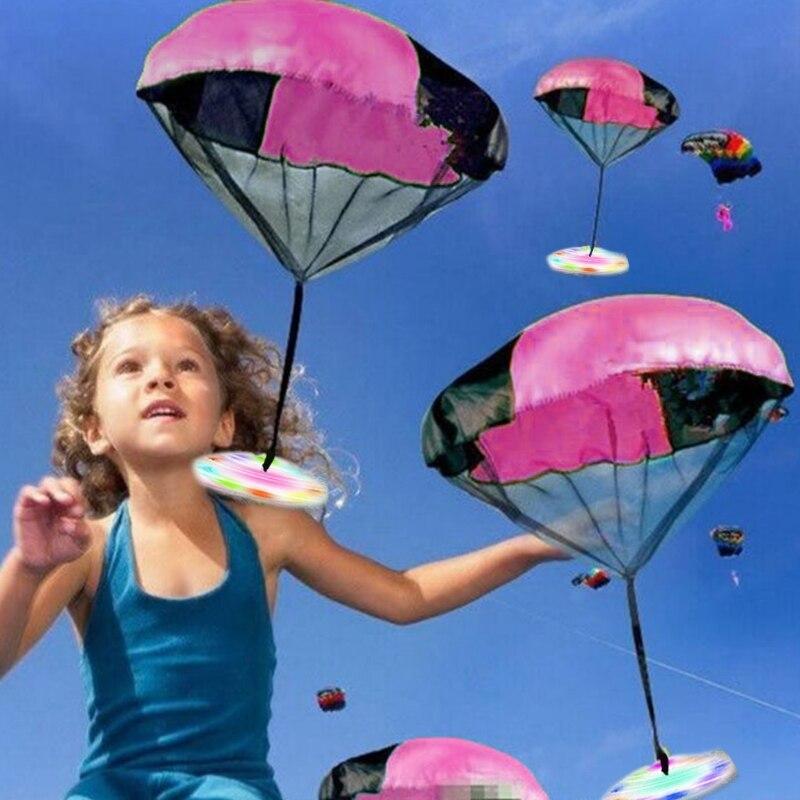 Mini juguete de luz Flash para lanzar a mano para niños, OVNI...