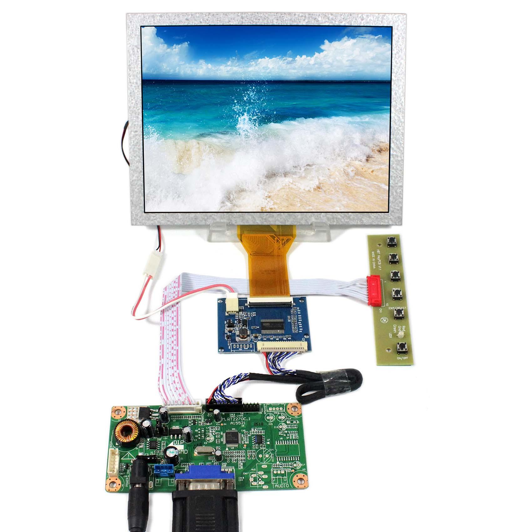 8 pulgadas EJ080NA-05A 800x600 LVDS a TTL Tcon con VGA LCD Cotnroller Junta RT2270C-A