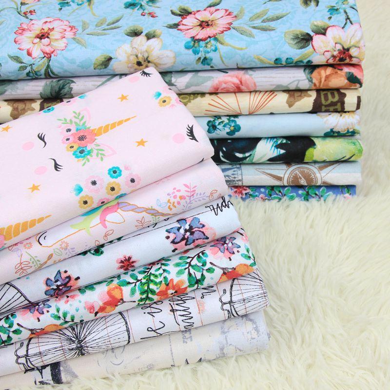 50*110cm tela de algodón de dibujos animados por metros para vestidos cojines fundas de almohada manta sábana ropa de cama Material de tela de costura D30