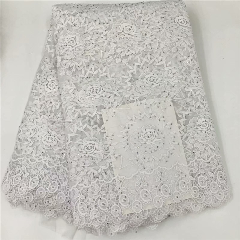 Lacets Swiss Voile de haute qualité femmes   2019, derniers lacets, suisse coton africain suisse dentelle sèche tissu pour hommes et femmes