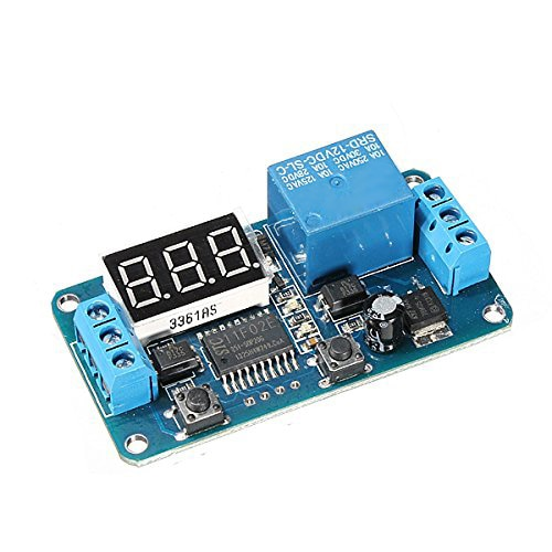 DC 12V LED Display Digital Delay Timer Control Switch Module PLC Automation  a new digital LED countdown display 12v delay