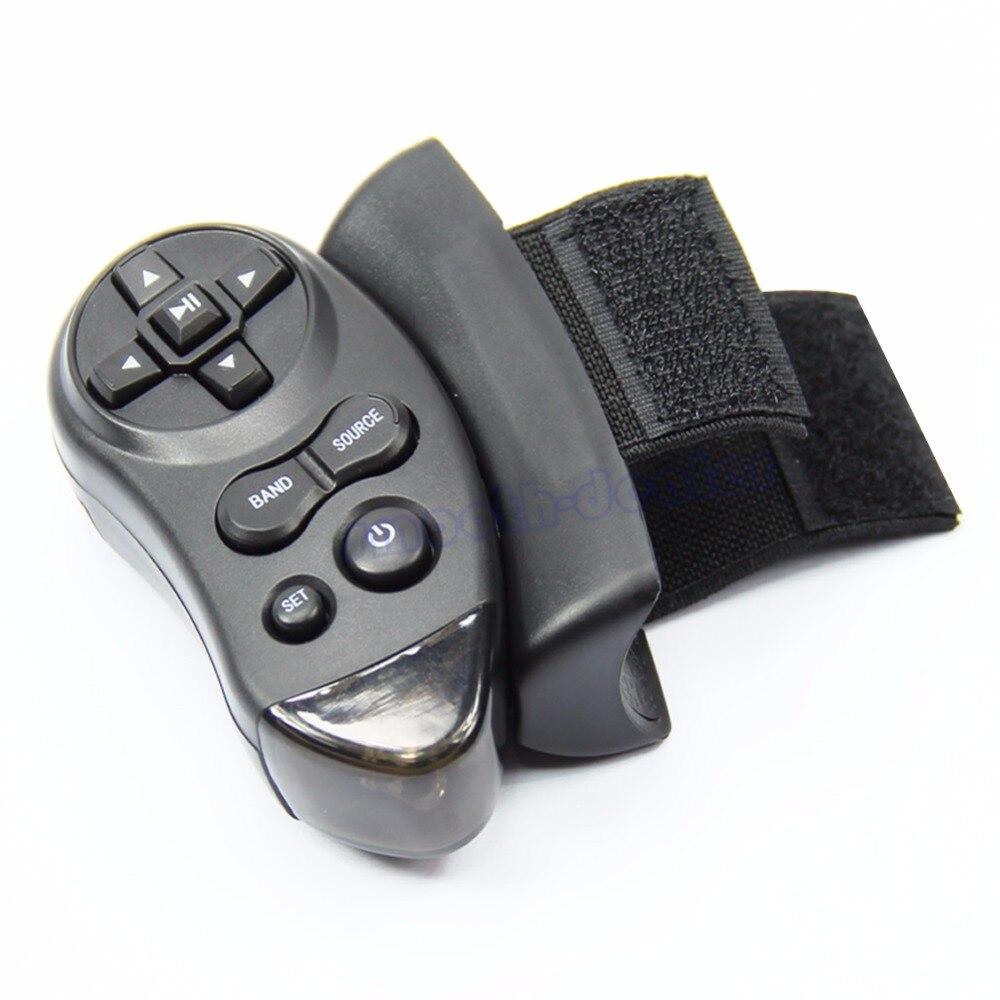 1 pc Preto Carro Controlo Remoto do Volante Universal Aprendizagem Para Car CD DVD VCD