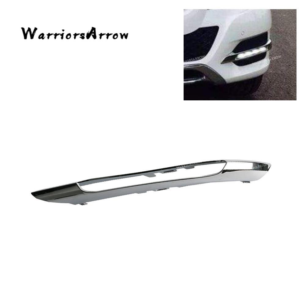 Parachoques delantero izquierdo, rejilla de luz antiniebla, moldura cromada para mercedes-benz W204 C250 C300 C350 C63 AMG 2012 2013 2014 2048852974