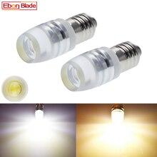 Paire E10 1447 lampe Miniature à vis   Pour la mise au point de la lampe de poche, ampoules Torches lampe de travail chaude/blanche 3V 6V 12V 24V DC