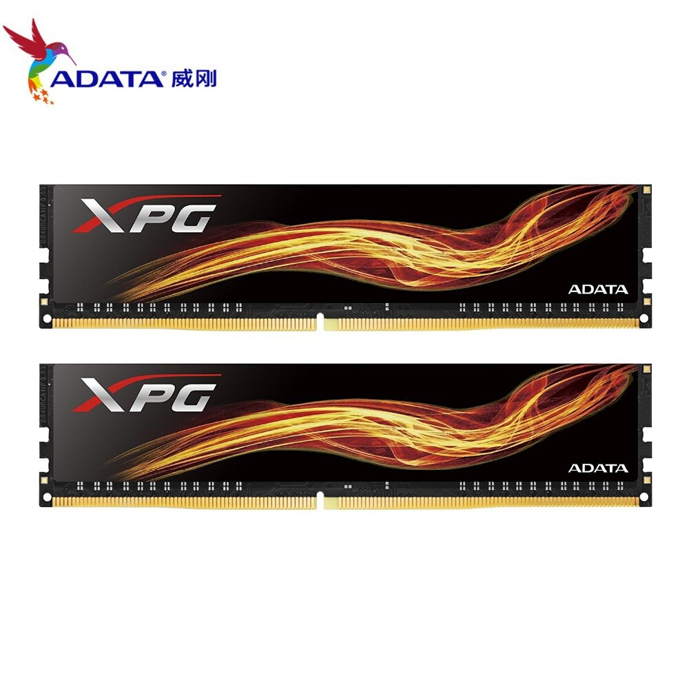 ADATA XPG llama DDR4 16GB (8GBx2) 2400MHz CL16 PC4-19200 U-DIMM solo paquete memoria para PC de escritorio RAM (AX4U240038G16-S BF)