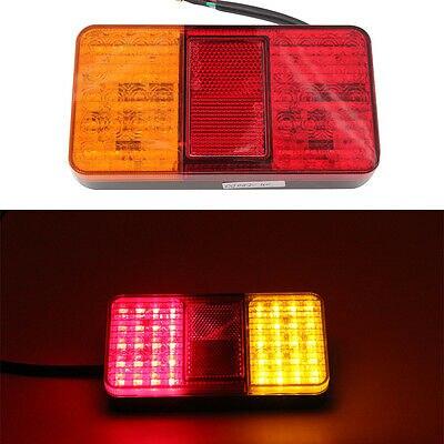 12V 40LED para remolques de coches, camiones, barcos, remolques, camiones, luces traseras, freno, freno, indicador de giro, luces LED 1 ud.