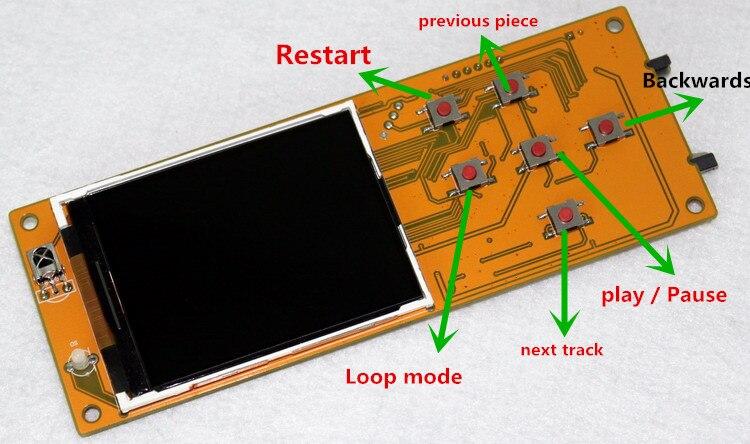 Envío Gratis SD I2S placa decodificadora giratoria Digital sin pérdidas con pantalla TFT LCD de 2,8 pulgadas
