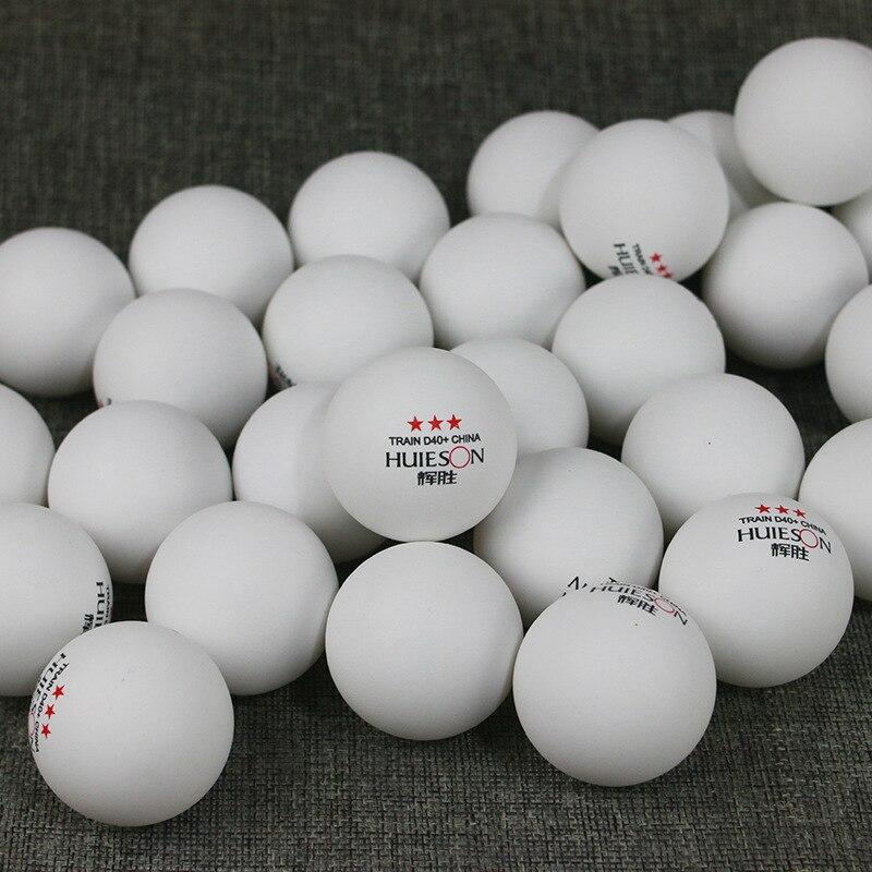 Huieson 50 unidades/pacote 3 estrelas novo material bolas de tênis mesa 40 + abs plástico ping pong bolas tênis mesa acessórios