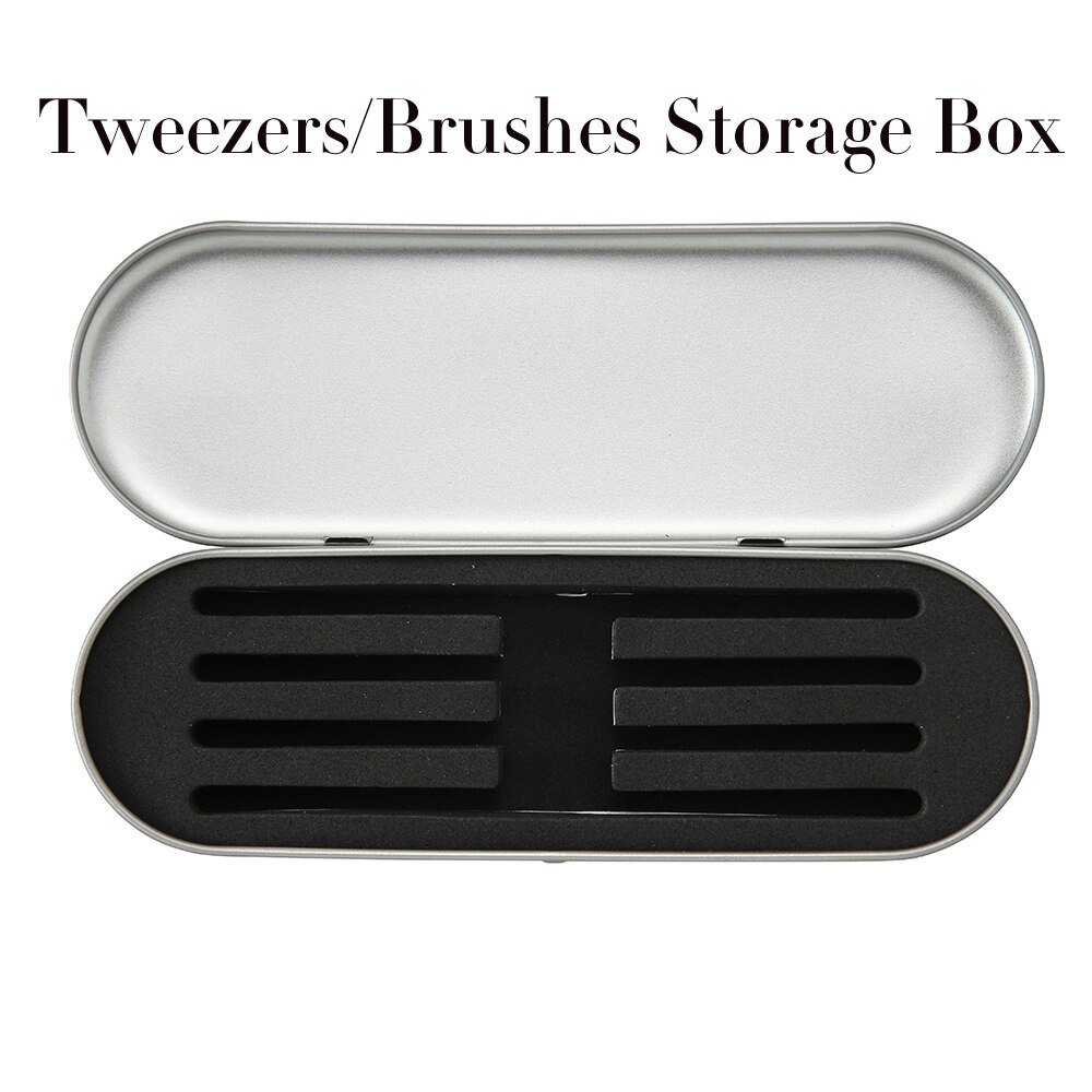 Pinzette Lagerung Box Wimpern Verlängerung Werkzeuge Tragbare Make-Up Pinzette Tasche Schutzhülle Box Pinsel Eyeliner Bleistift Fall Veranstalter