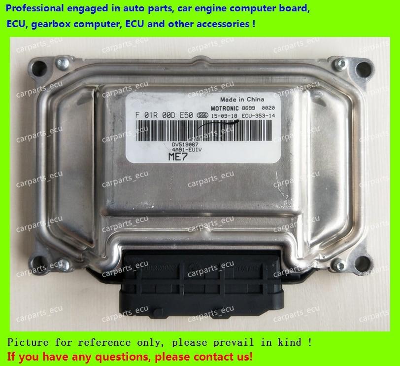 Para Chery Placa de ordenador de motor de coche/ME7.8.8/ME17 ECU/unidad de Control electrónico/sudeste Mitsubishi/F01R00DE50 DV519067 4A91/F01RB
