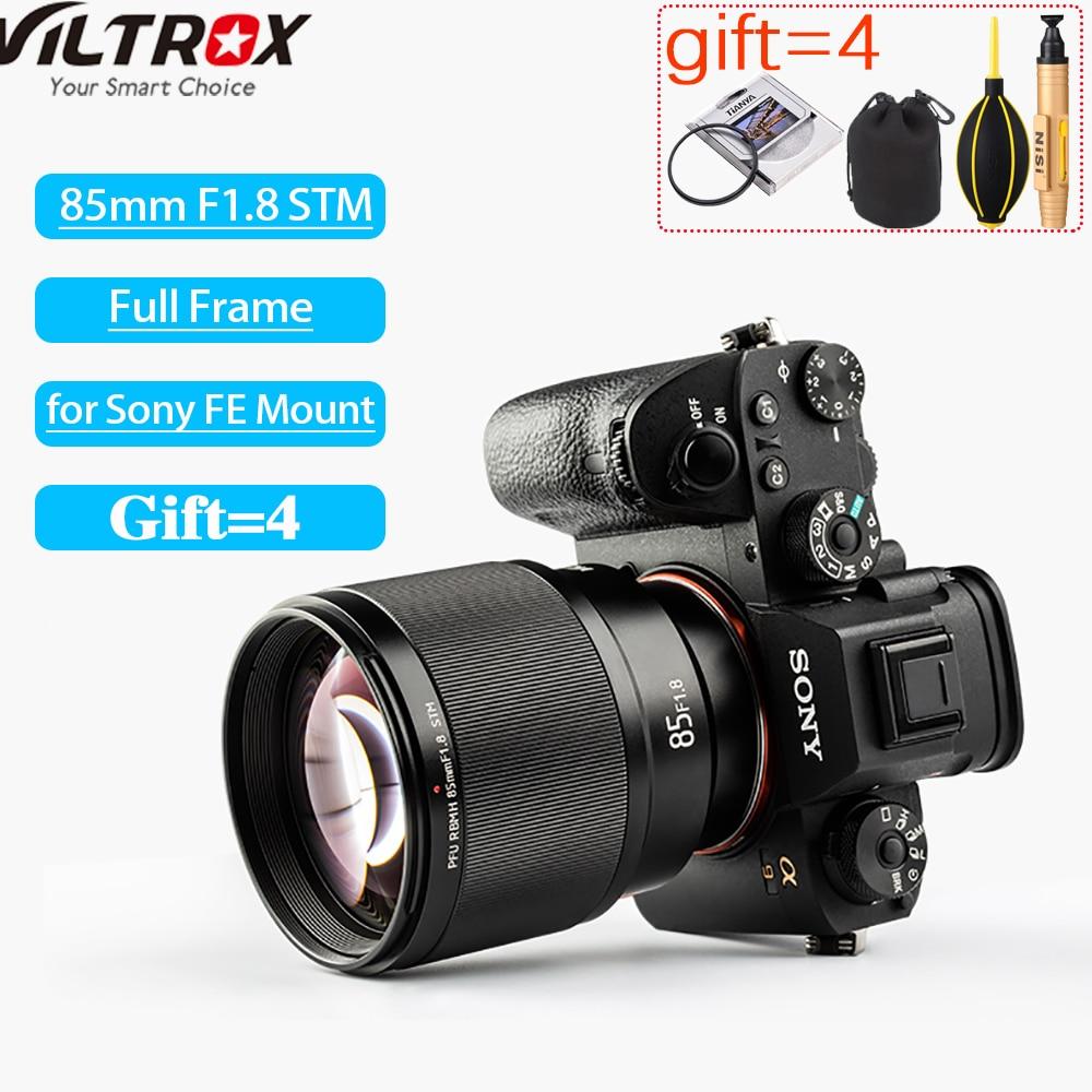 Viltrox 85mm F1.8 STM Camera Lens Auto Focus Portrait Prime Lens Eyes Focus AF For Sony A6000 A6300 A7 A6500 A9 A7RIII FE-Mount