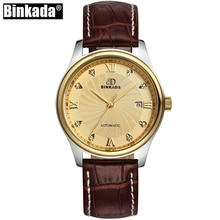 Gold Men Mechanical BINKADA Top Brand Watch Automatic Role Date Casual Luxury Clock Male Crystal Reloj Hombre Relogio Masculino