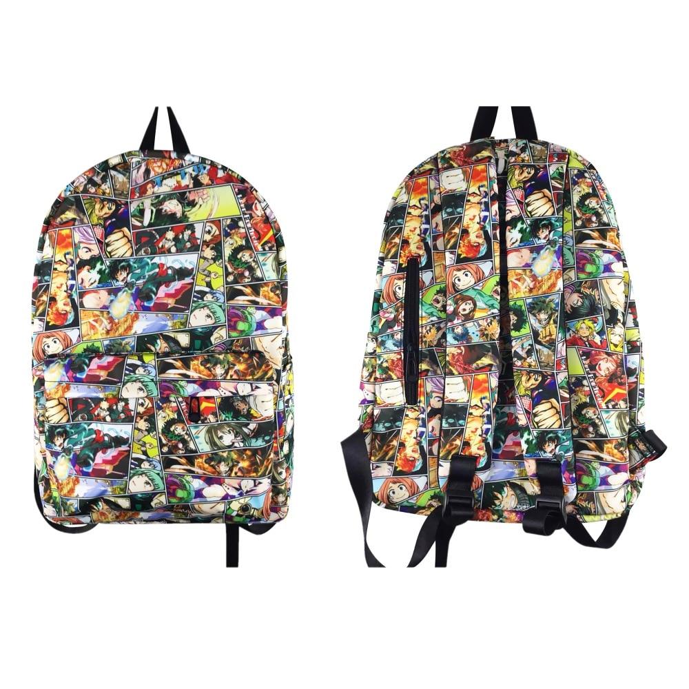 Mochila My Hero Academia, mochila escolar con dibujos de Boku no Hero Academia, mochila para adolescentes, mochila para ordenador portátil, mochila de viaje