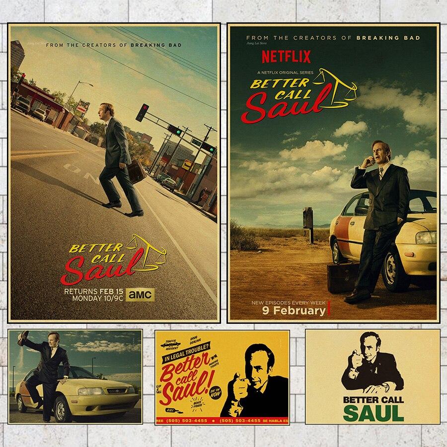 Vintage mejor llama a Saul Goodman clásico cartel de película retro cartel...