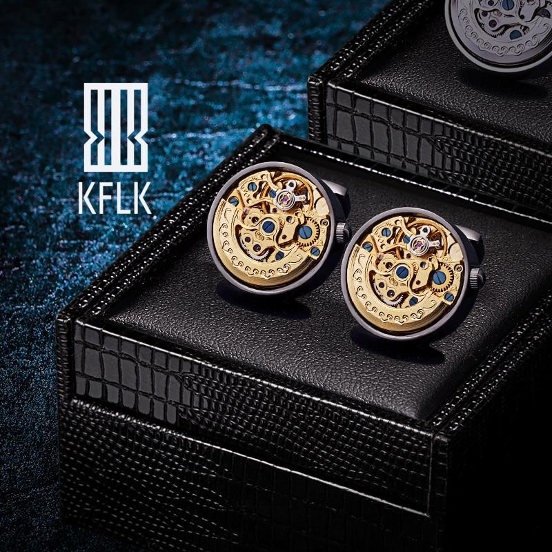 KFLK-أزرار أكمام للرجال ذات علامة تجارية ، وقمصان ، وأزرار أكمام ميكانيكية ذات نوعية جيدة للضيوف