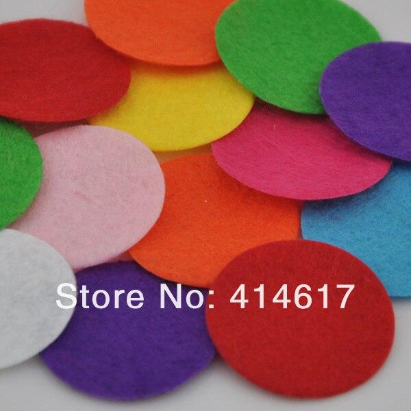 20 Uds. Apliques circulares de fieltro de 30mm-Mezcla envío gratis pick color F09