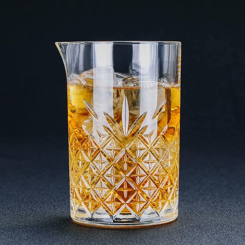 Vidro de mistura cravejado de vidro do cocktail 700ml