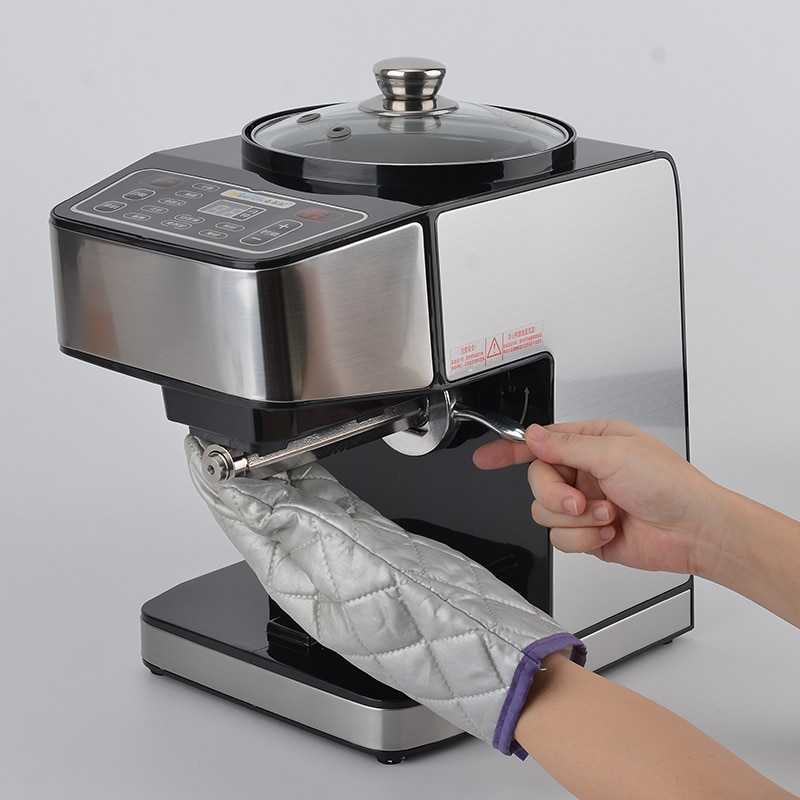 Small Home family electric intelligent cold hot pressing peanut automatic commercial oil press machine with baked Fried enlarge
