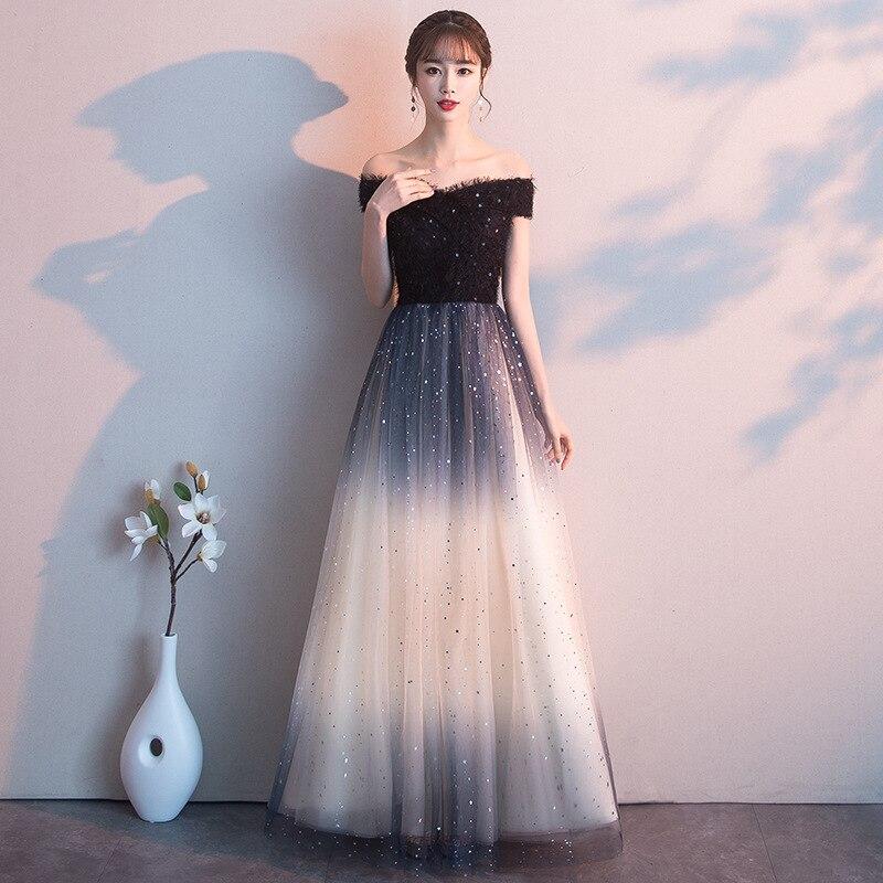 Стильное облегающее платье с блестками и открытыми плечами, вечернее платье, китайский стиль, вечернее платье, улучшенное QipaoVestidos, размер S-XXXL