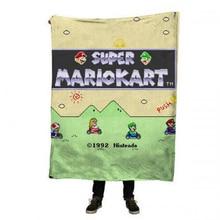 EHOMEBUY 3D Blanket Super Mariokart 3D Print Baby Kid Cute Cartoon Mario Flannel Quality Home Sofa Cover Picnic Portable