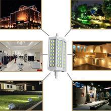 Envío Gratis regulable R7S LED 15W 30W 40W cree SMD5730 led r7s 78mm J78 118mm J118 189mm J189 bombilla halógena de luz de proyector de lámparas
