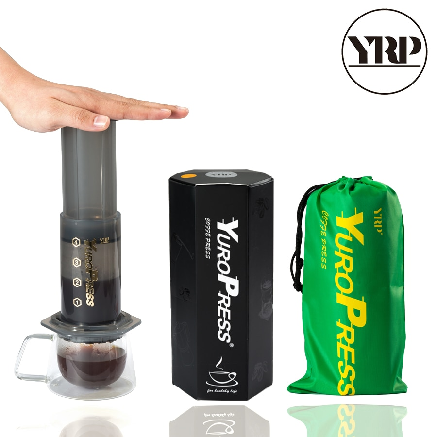 YRP YuroPress-آلة صنع القهوة المحمولة ، آلة إسبرسو ، مكبس فرنسي ، أدوات باريستا ، وعاء قهوة ، مكبس هواء ، آلة تقطير ، فلاتر ورقية