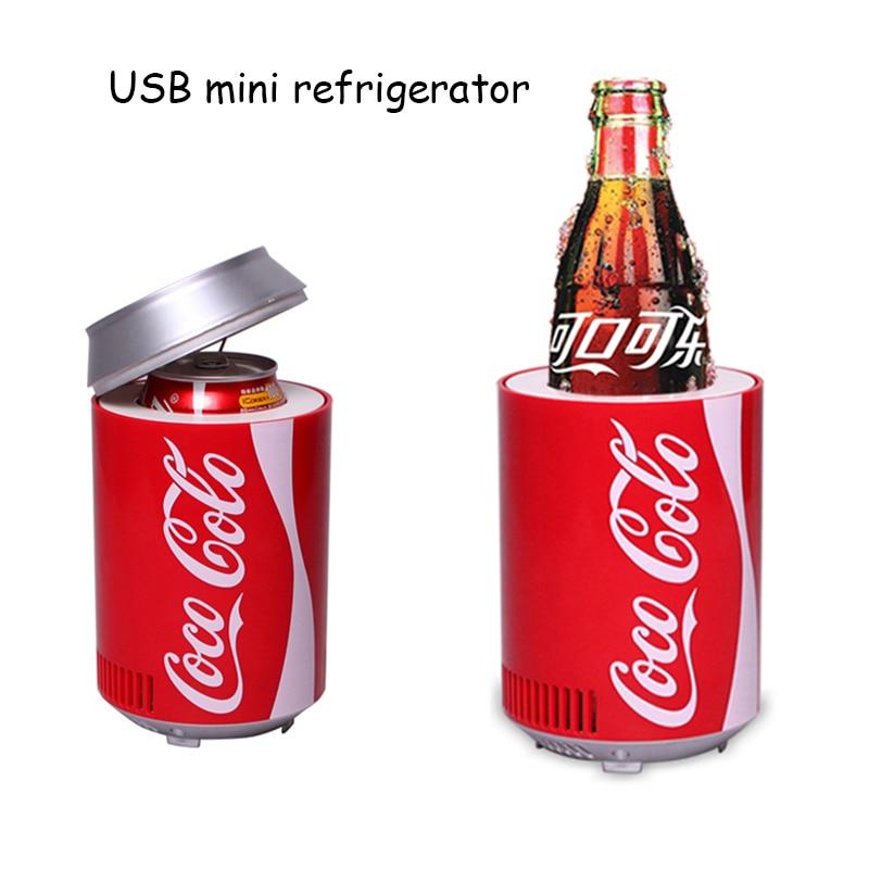 Мини usb холодильник охладитель нагреватель холодный холодильник двойного назначения домашнее общежитие DC 5V 12V автомобильный офисный холод...