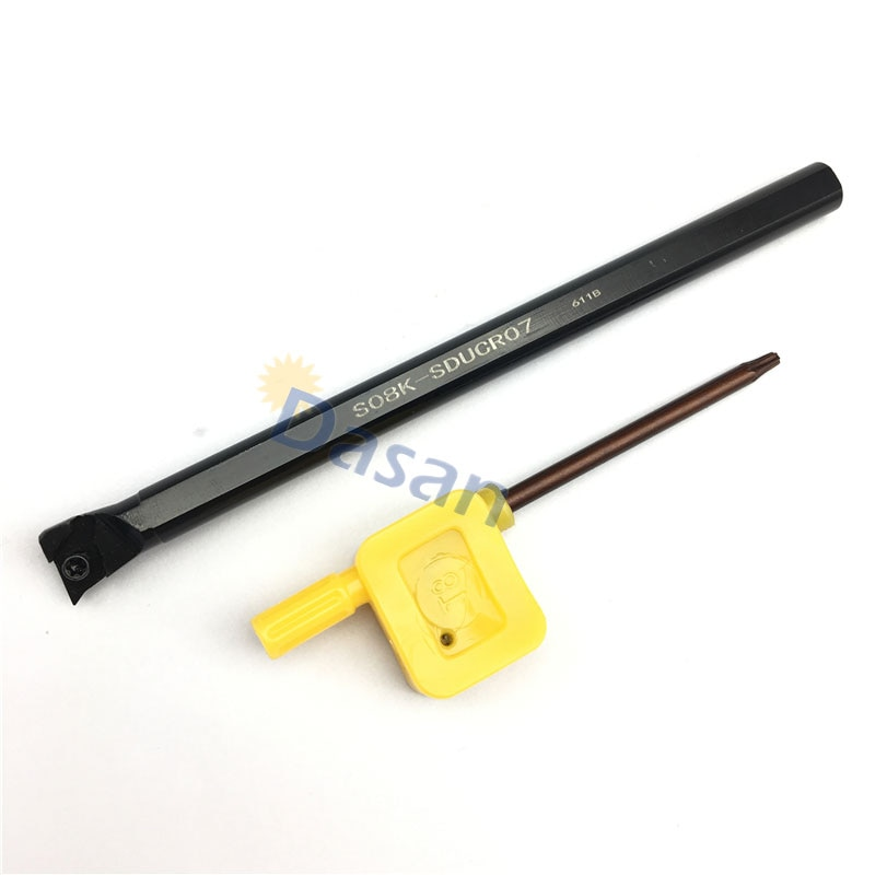 Herramientas S08K-SDUCR07 herramienta de torneado CNC portaherramientas Barra de perforación interior máquina de torno de Metal
