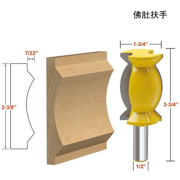 "Molde de corona de vástago de 1/2 ""-cortador de espiga de corte de línea de broca de Router de 2 1/2"" de gran tamaño"