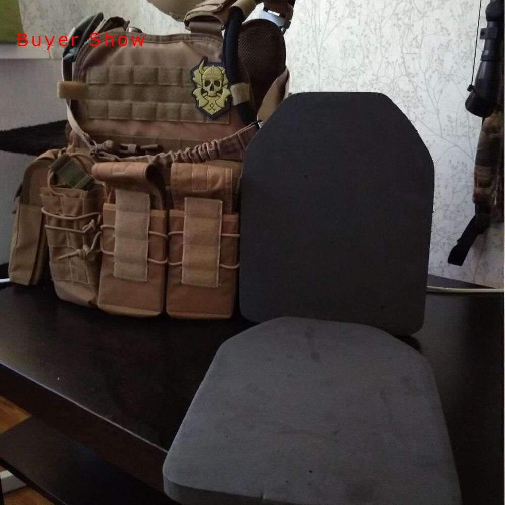 2 uds. Equipo de soldado táctico, chalecos portadores de cuerpo EVA, placa de choque SAPI, placas de armadura de caza Airsoft y otros protegen