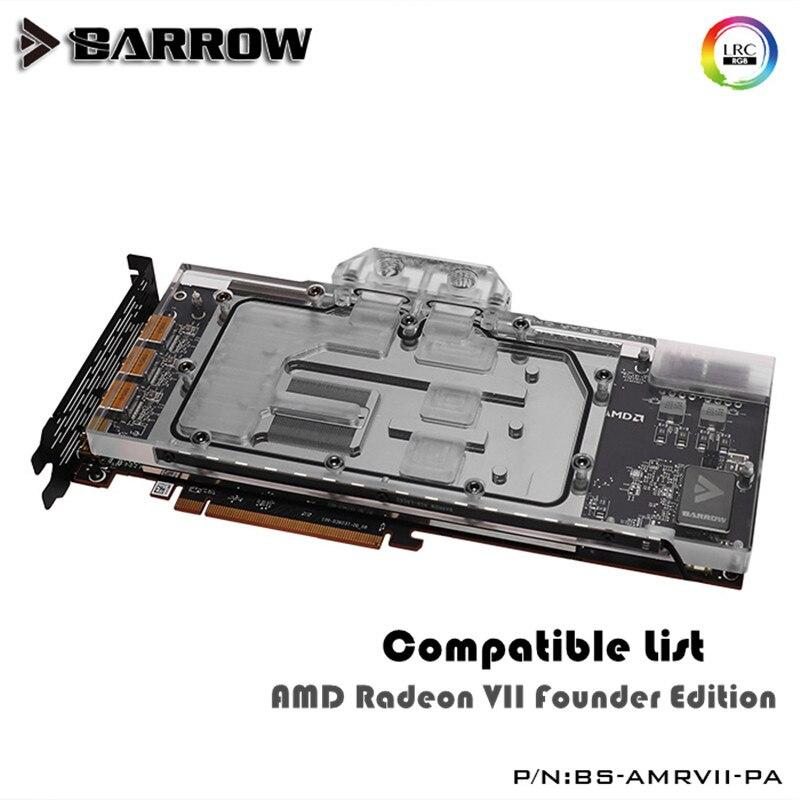 Barrow VGA Block For AMD Radeon VII Founder Edition GPU Water Block Full Cover BS-AMRVII-PA
