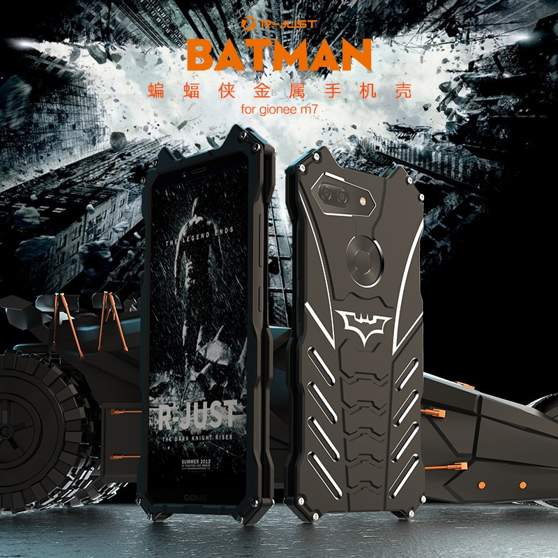 R-JUST BatMan Series Luxury Aluminium Metal Cases For Gionee M7 Mobile Phone Cover Metal Back Case