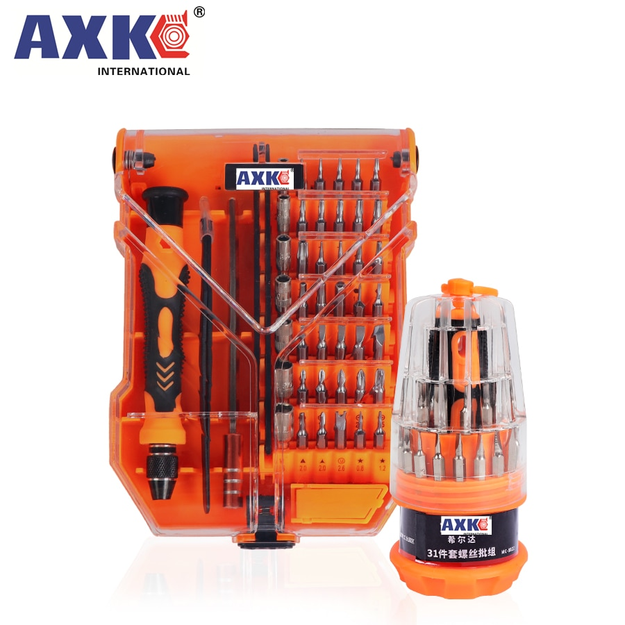 AXK 35 in 1 Screwdriver Set Home Useful Multi Tool Multi-Bit Tools Repair Torx Screw Driver Screwdrivers Kit Hand Tools недорого