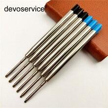 5 sztuk/partia metalowe długopisy wkłady kolor atramentu niebieski czarny uzupełniające atramenty diamentowe pióro podpis biurowy pręty szkolne