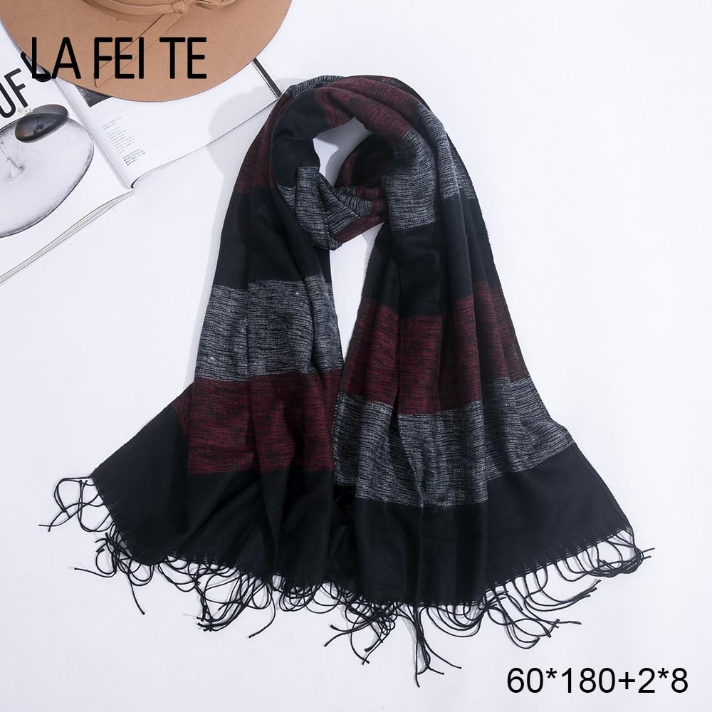 2019 largo invierno bufanda de la Cachemira de las mujeres mujer chales caliente Ponchos Hijab pañoleta pashmina pañuelo mujer bufandas para mujer 2019
