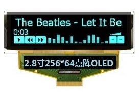 Pantalla azul OLED NoEnName_Null de 2,8 pulgadas, unidad SSD1322UR1 IC 256*64 SPI/I2C/interfaz paralela