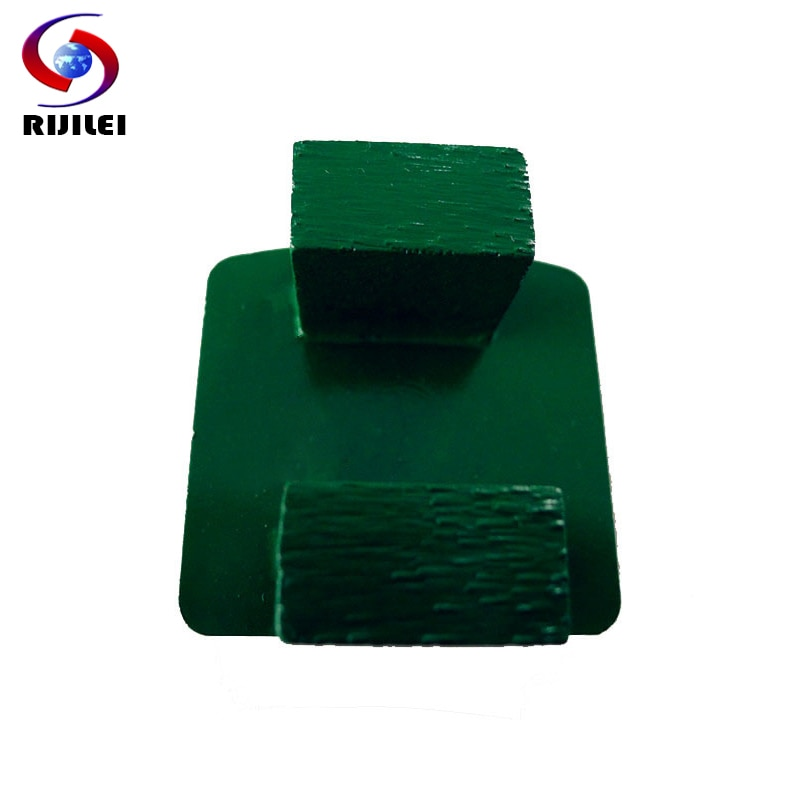 RIJILEI 30Pcs/Lot Redi-Lock Diamond Grinding Disc Trapezoid Grinding Block Concrete Floor Metal Bond Grinding Shoes Plate Y20-2