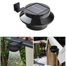 방수 조명 정원 태양 outsid 벽 램프 3 Led iP65 빛 센서 제어 태양 전원 된 울타리 거 터 태양 야외