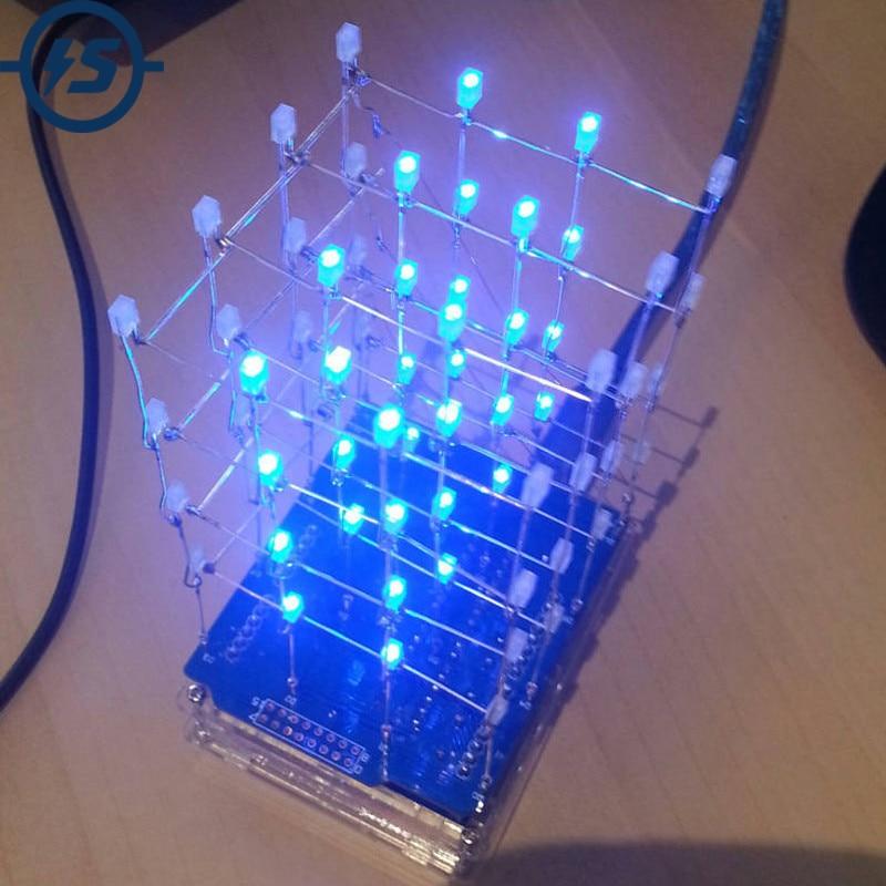 Набор голубых светодиодных кубиков 4x4x